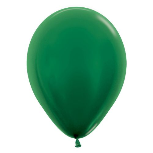 "Metallic Solid Forest Green 532 Latex Balloons 12""/30cm"